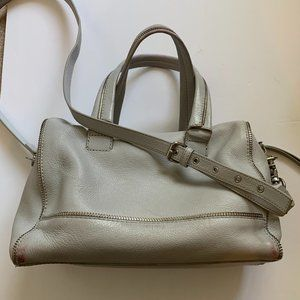 Botkier Silver Leather Crossbody Satchel Bag